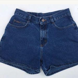 Lee Riders Denim Shorts Dark Medium Wash